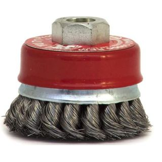 100mm M14 x 2 Twist Knot Cup Brush - Bordo