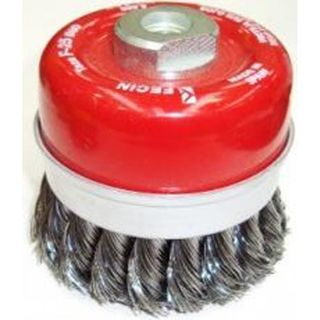 65mm M10 x 1.5 Twist Knot Cup Brush - Fecin
