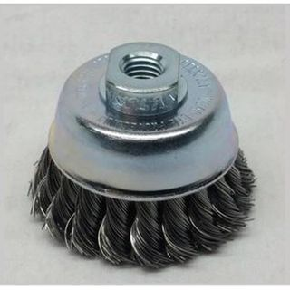 75mm M14x2  Stainless Twist Knot Cup Brush - Dixbro