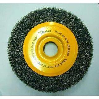 70mm x 10mm x 6mm Shank Wire Wheel 30G 12000 RPM - Dixbro