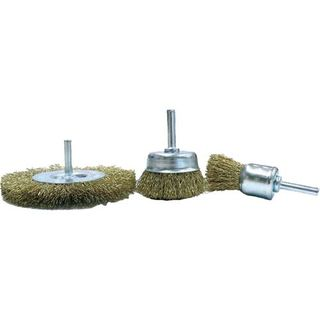 75mm x 10mm .30 x 1/4' Shk Wire Wheel - Bordo
