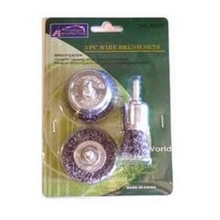 70 & 100mm x 6mm Shk 2pce Wire Wheel Set - ToolHouse