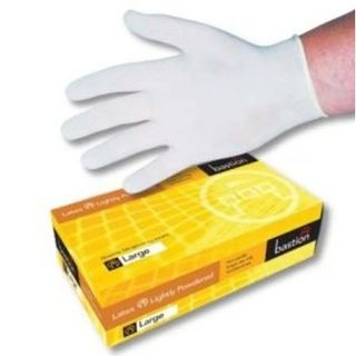 Rubber Latex Gloves Powdered - Large
