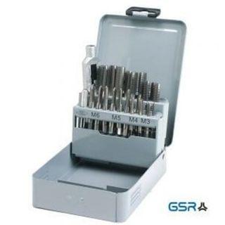 M3 - M12 HSS Tap  Set Metal Case  22 pce - GSR