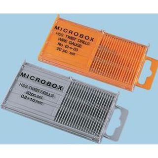 0.30mm-1.6mm x .1mm rises HSS MICROBOX  20pc Drill Set