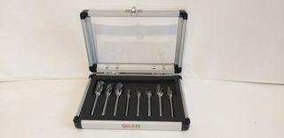 8 pc 6-12mm x 6mm Aluminium Cut Carbide Burr Set Aluminium Case