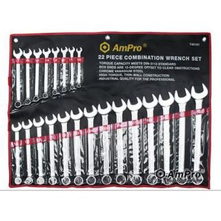 Ampro Combination Wrench Set 10-32mm  22pce