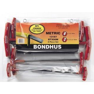 2-10mm Bondus 'T'  B/End Hex Set in Pouch