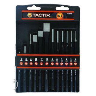 12pce Punch & Chisel Set - Tactix