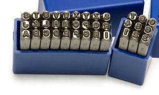 1/4' (6.3mm) Letter & Number Punch Set