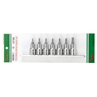 3/8 Dr. 7Pce TS10, TS15, TS20, TS25, TS27, TS30, TS40 Penta-Star Bit Skt Set on Rail - Hans