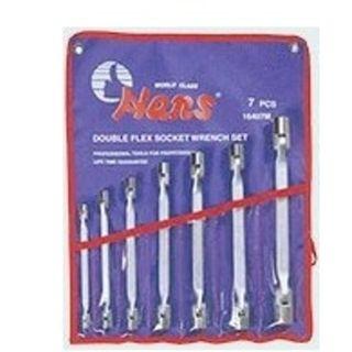 7pce  8x9-21x22mm Double Flex Socket Wrench