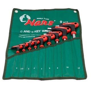 2-12mm 9pce Colory Handle B/End Hex Key Set - Handy Pouch - Hans