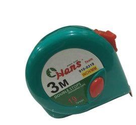 3m/10' x 19mmW Double Stop Tape Measure - Hans