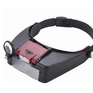 Head Magnifying Glass Lens Loupe with LED Light - 1.5X/3X/8.5X/10X