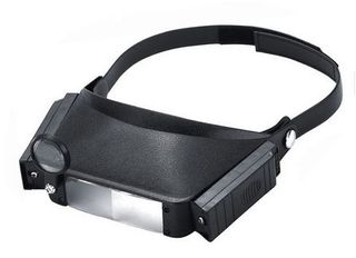 Head Magnifying Glass Lens Loupe with LED Light - 1.5X/3X/9.5X/11X