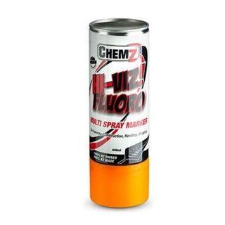 Orange  Hi-Viz Fluro Aerosol 400ml - Chemz