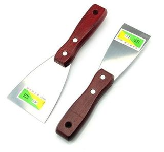 "4"" Putty Knife S/Steel Blade -  Wood Handle"