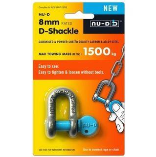 8mm x 1500kg Easy Open Nu-D Tested  Shackle