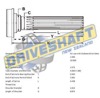MS/S 1.500 X 16 SPL 4.000 X .083 (40MM BEARING)