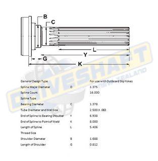 MS/S 1.375 X 16 SPL 2.500 X .083 (35MM BEARING)