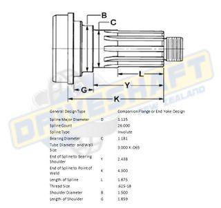 MS/S 1.125 X 26 SPL 3.000 X .065 (30MM BEARING)