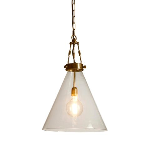 Gadsden Large Glass Hanging Lamp BRASS