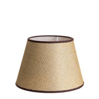 Medium Taper Lamp Shade (14x9x9.5 H) - Brown - Basket Weave Lamp Shade with B22 Fixture