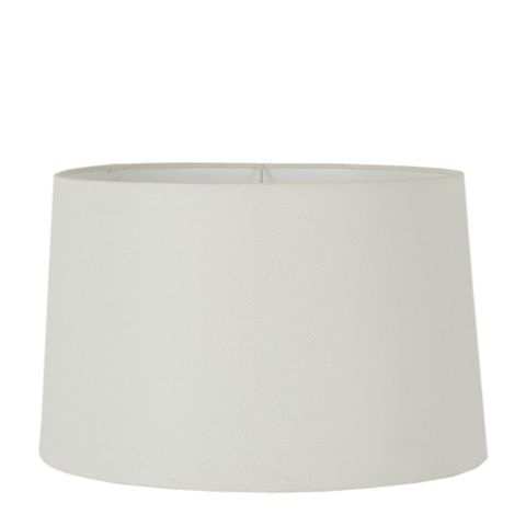 XL Drum Lamp Shade (18x16x10.5 H) - Textured Ivory - Linen Lamp Shade with E27 Fixture