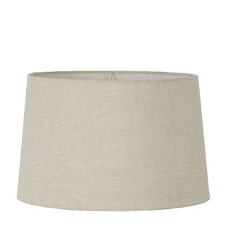 XL Drum Lamp Shade (18x16x10.5 H) - Light Natural Linen - Linen Lamp Shade with E27 Fixture