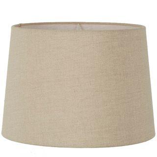 XXXL Drum Lamp Shade (24x22x14 H) - Dark Natural Linen - Linen Lamp Shade with E27 Fixture