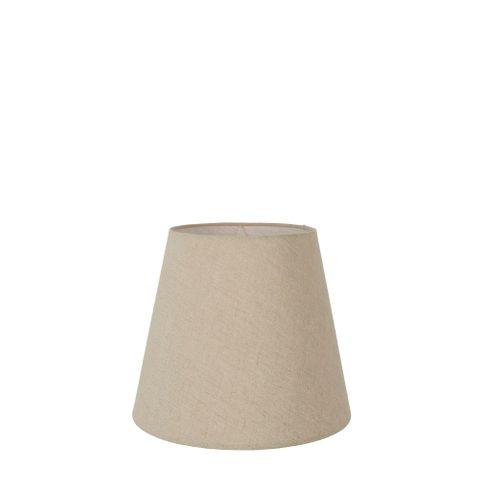 XXS Taper Lamp Shade (7x5x6 H) - Dark Natural Linen - Linen Lamp Shade with E27 Fixture