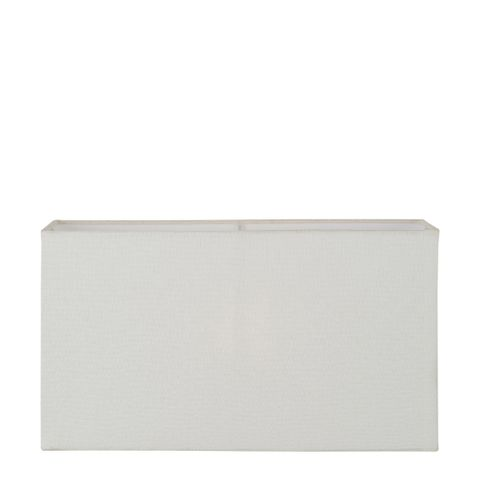 XL Rectangle Lamp Shade (18x8x10 H) - Textured Ivory - Linen Lamp Shade with E27 Fixture