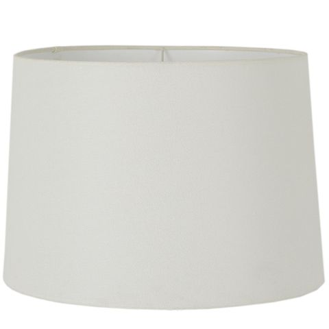 XXXL Drum Lamp Shade (24x22x14 H) - Textured Ivory - Linen Lamp Shade with E27 Fixture