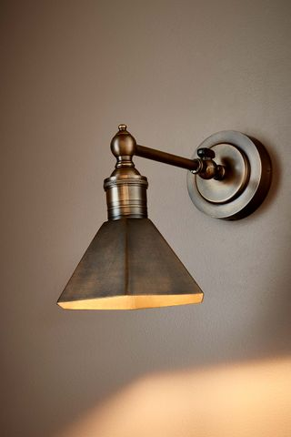 Mayfair Sconce W/Shade Antique Brass