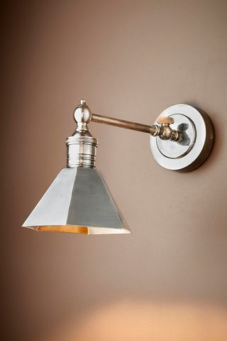 Mayfair Sconce W/Shade Antique Silver