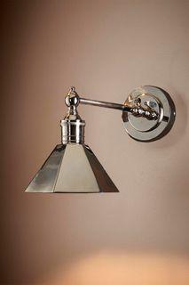 Mayfair Wall Light with Metal Shade Shiny Nickel
