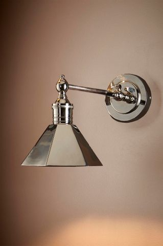 Mayfair Sconce W/Shade Shiny Nickel