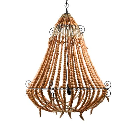Beaded Chandelier Large Natural