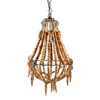 Beaded Chandelier Small Natural