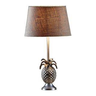 St Martin Table Lamp Base Antique Silver