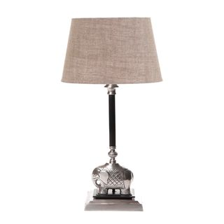 Sabu Table Lamp Base Dark Ant Silver