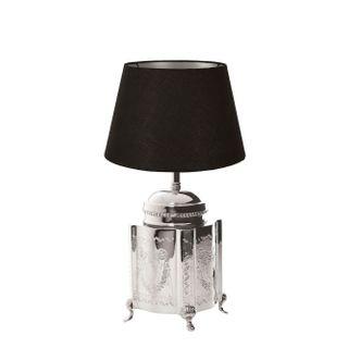 Kensington Table Lamp Base Small Shiny Nickel
