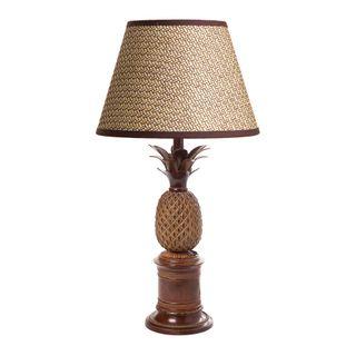Bermuda Pineapple Table Lamp Base Brown