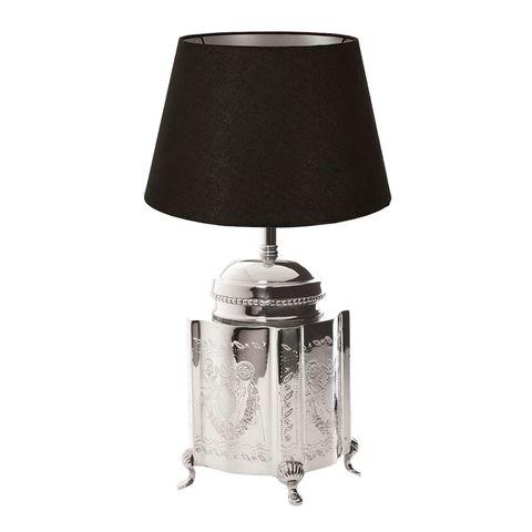 Kensington Table Lamp Base Large Shiny Nickel
