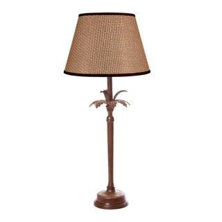 Casablanca Table Lamp Base Brown