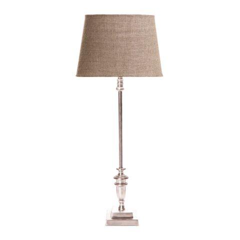 Lyon Table Lamp Base Antique Silver