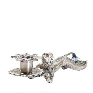 Monkey (Lying Down) Candleholder AntSil