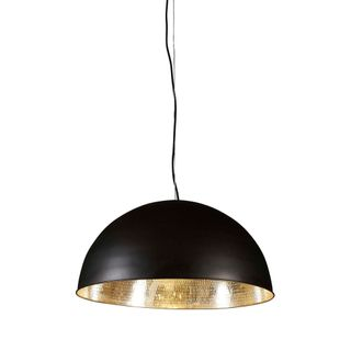 Alfresco Dome Ceiling Pendant Black and Silver