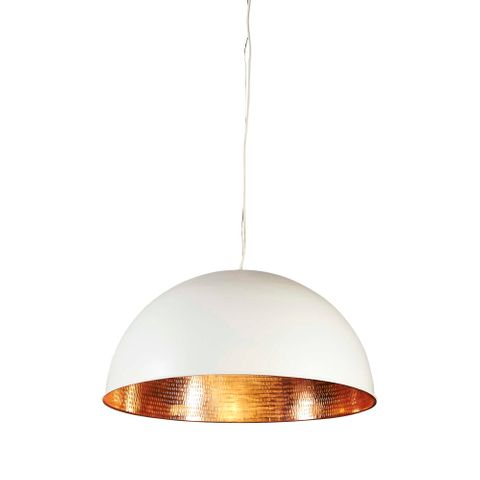 Alfresco Dome Ceiling Lamp Wht Copper